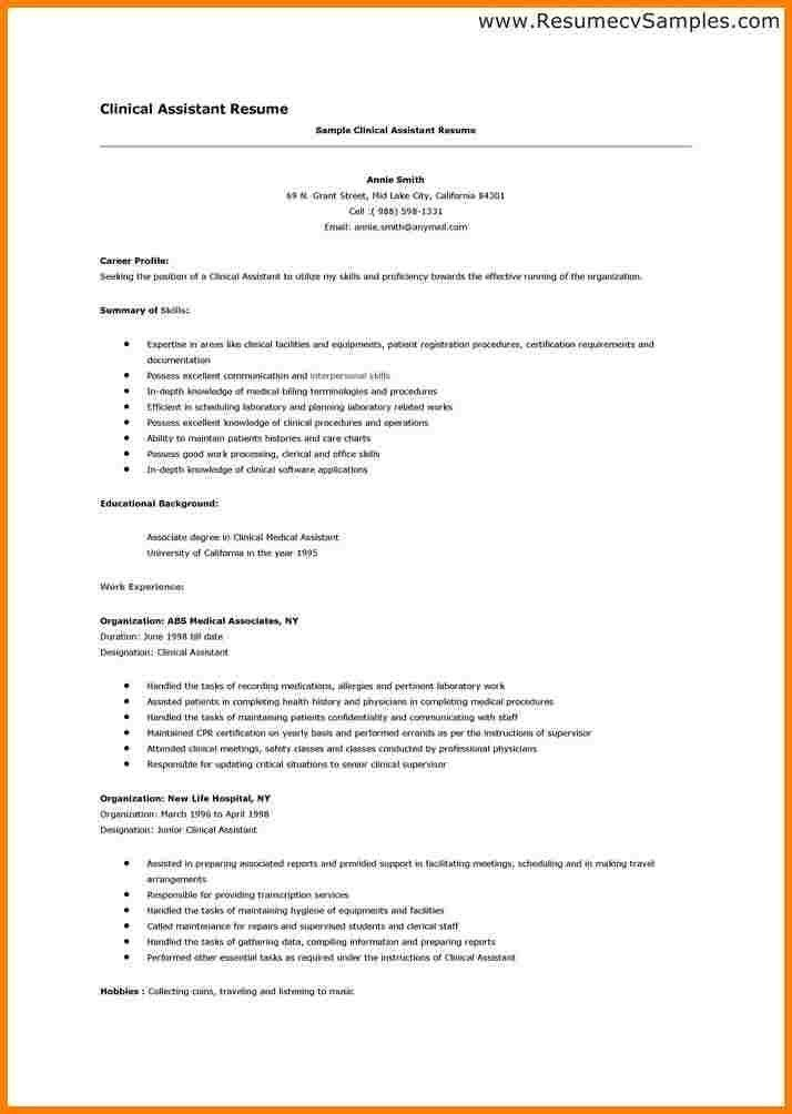 Resume Format For Medical Transcriptionist Transcriptionist
