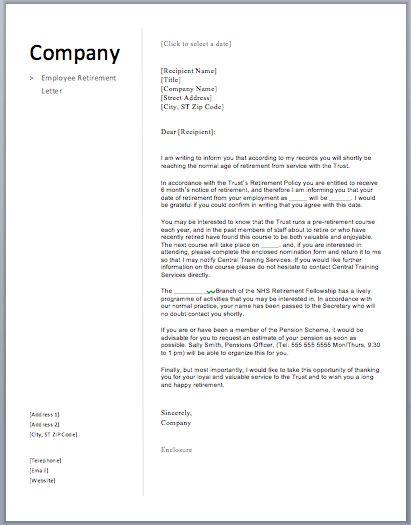 retirement letter 17 download free doents in word. sample teacher ...