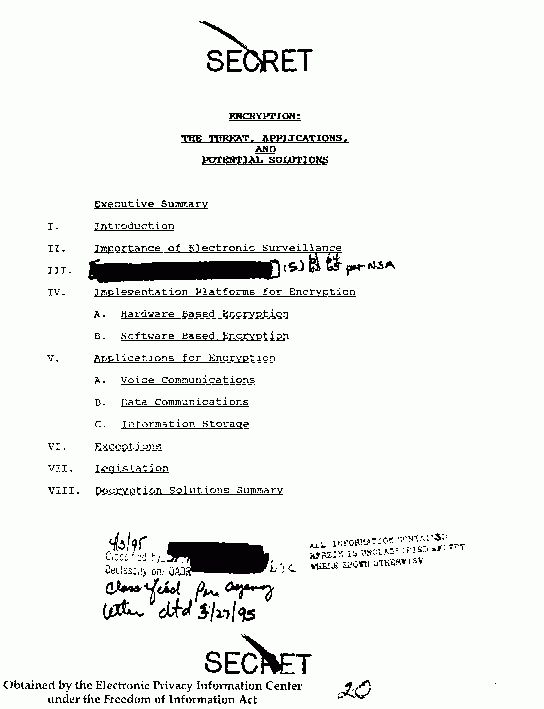 EPIC - Former Secrets - Documents Released Under FOIA