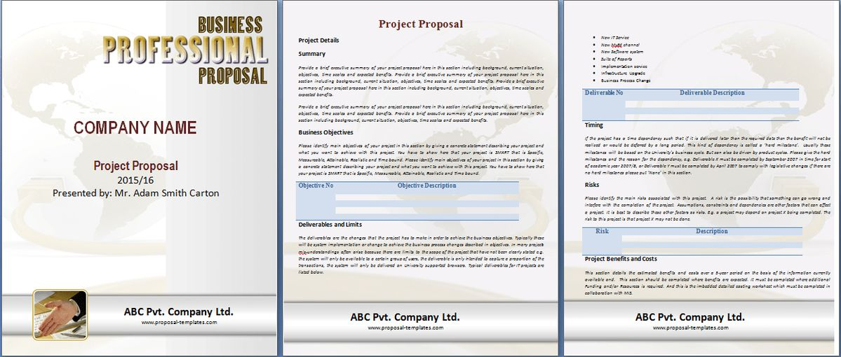 Project Proposal Template Free | Proposal Templates