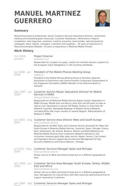 Project Director Resume samples - VisualCV resume samples database