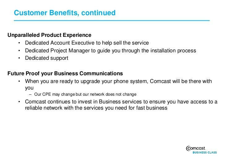 Comcast Business Class Trunks Pri Customer Presentation 0911 (2)