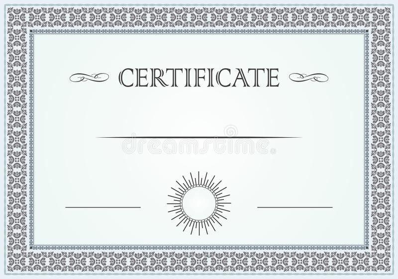 Certificate Border Stock Vector - Image: 50031848