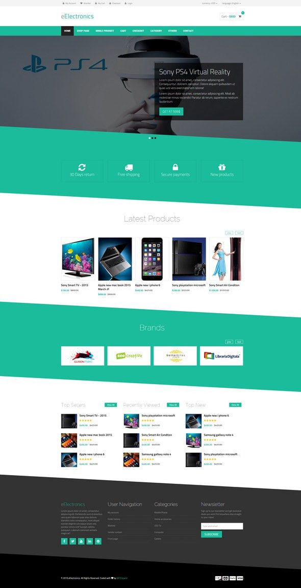 25 Best Html Ecommerce Website Templates (Free, Premium)