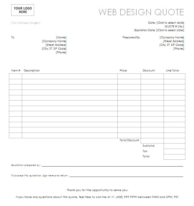 professional quote template