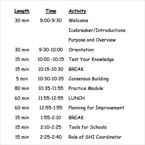 free agenda templates - Template