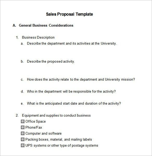 Sales Proposal Template – 10+ Free Sample, Example, Format ...