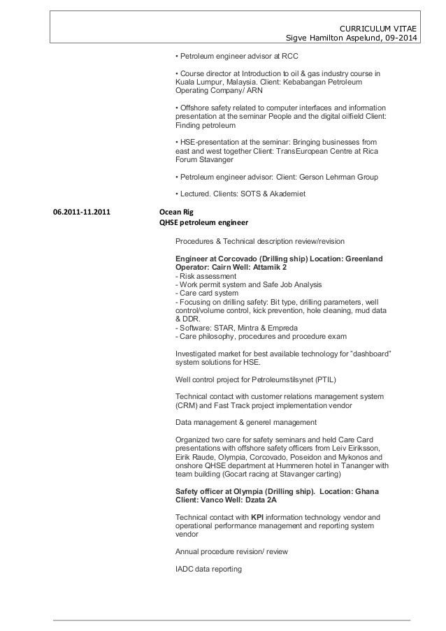 petroleum engineer resume free petroleum engineer resume example