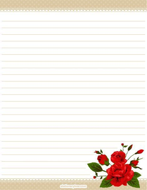 122 best Flower Stationary images on Pinterest | Writing papers ...