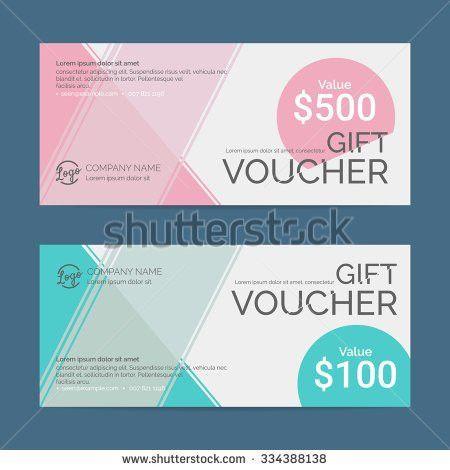 Gift Voucher Template Eps10 Vector Format Stock Vector 336872798 ...