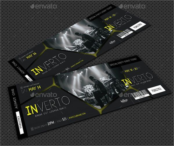 8+ Admission Ticket Templates - Free PSD, AI, Vector EPS Format ...