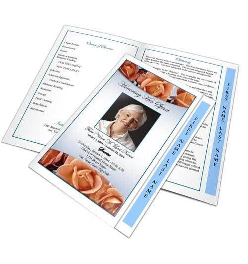 Funeral Program Template | Funeral Programs | Obituary Template ...