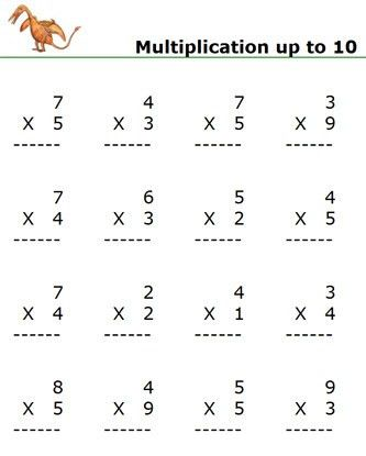 multiplication worksheets, multiplication math games, Free ...