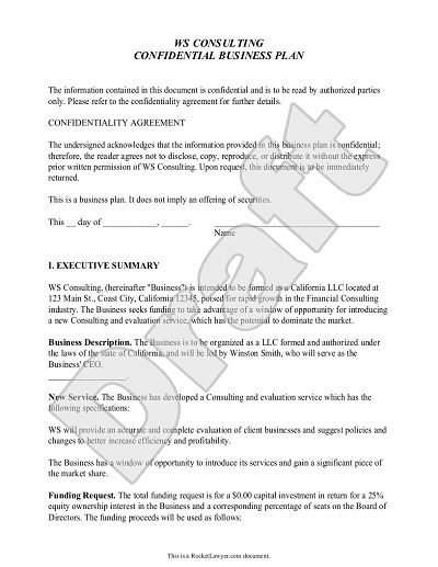Business Plan Template - Customize and Print Your Form