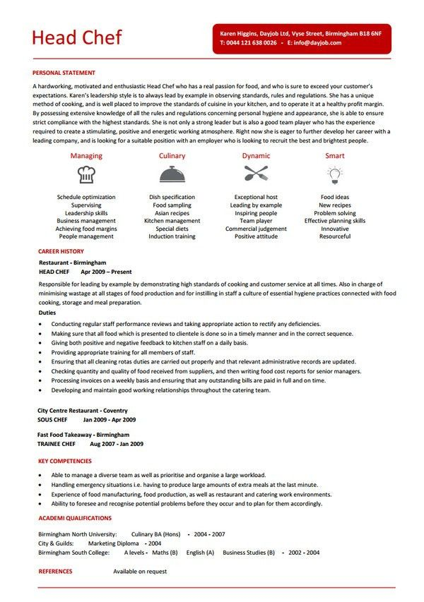 chef resume chef resume sample writing guide resume genius chef