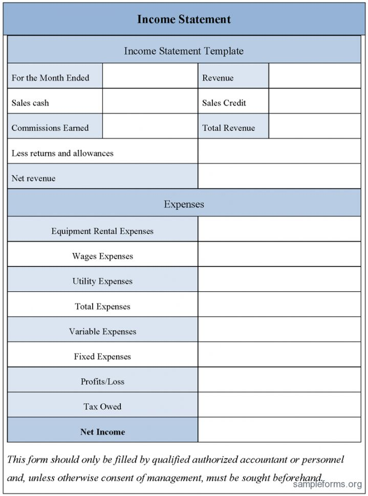 Free Excel Income Statement Template 2 Simple Income Statement ...