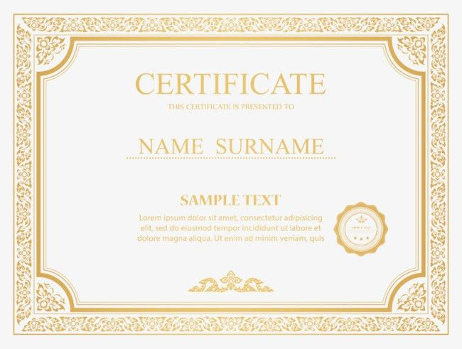 Certificate border vector PNG and Vector for Free Download