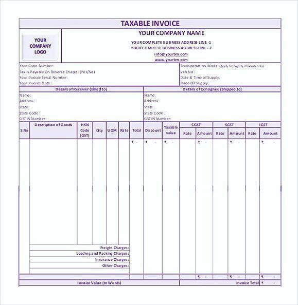 simple GST Invoice Format in PDF1 , Simple Invoice Template Word ...