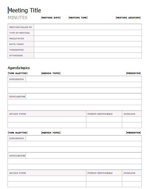 meeting minutes template, meeting minutes form, template meeting ...