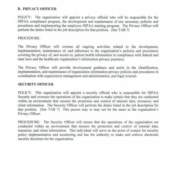 HIPAA Compliance Manual