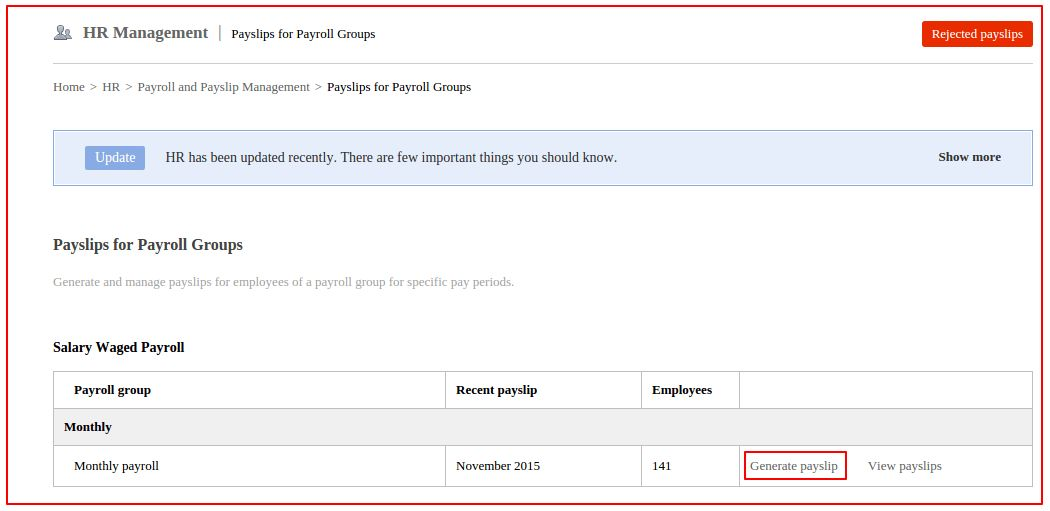 How an employee's payslip is generated in Fedena 3.5? : Fedena Pro ...