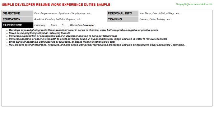 Qt Hmi Developer Resumes Samples