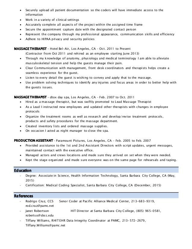Resume Coding
