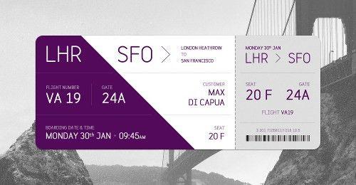 Plane Ticket Template Plane Ticket Invitation Template Boarding – Airline Ticket Template Free