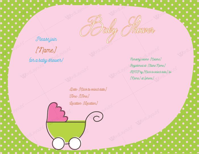 Use a Baby Shower Invitation Template - 5 Printable Designs
