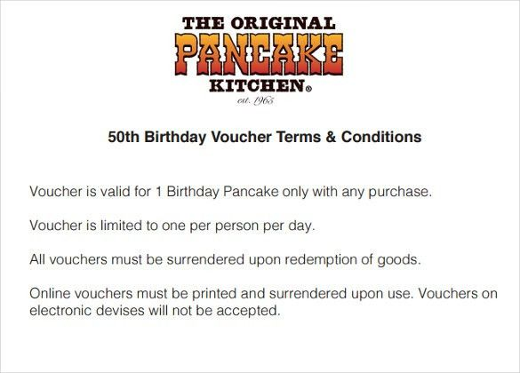12+ Birthday Voucher Templates – Free Sample, Example Format ...