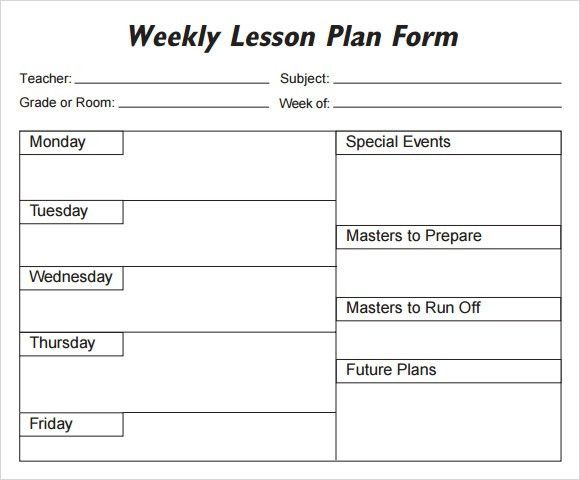 5 Free Lesson Plan Templates - Excel PDF Formats