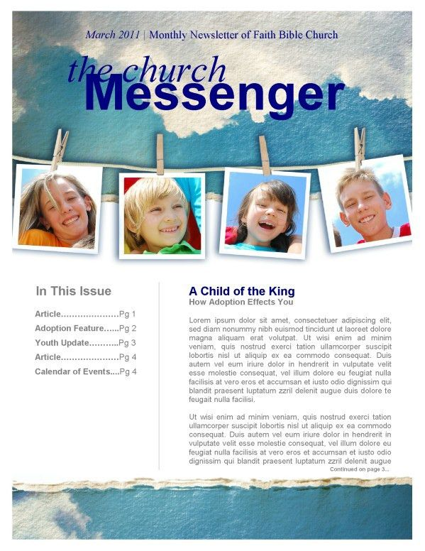 A Love that Never Fails Ministry Newsletter Template | Newsletter ...