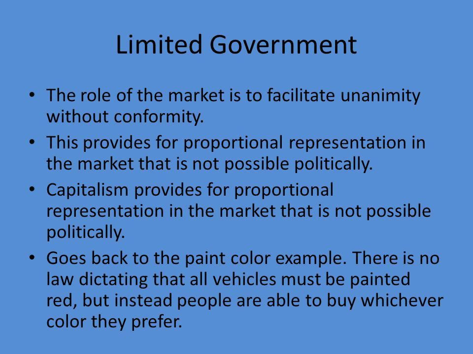Role of Government in a Free Society. Question Slide 1 1.What role ...