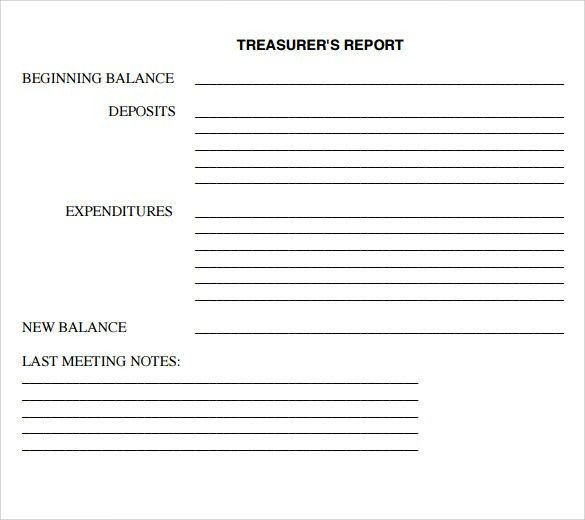 Treasurer Report Template. Awesome Finance Report Template ...