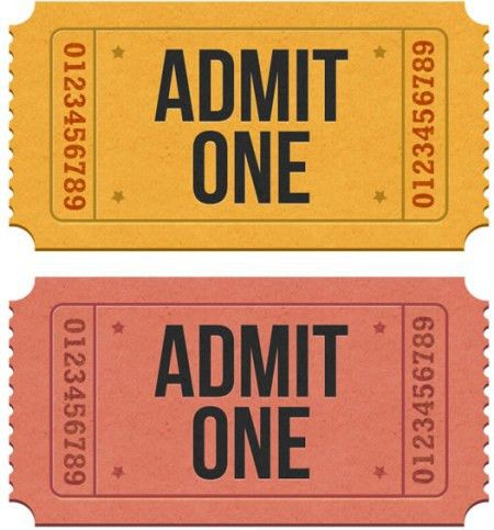 Realistic Admission Ticket Images