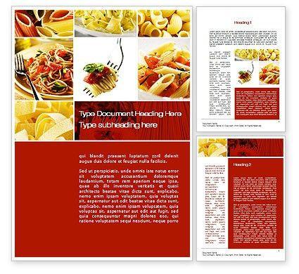 Pasta Recipes Word Template 10426 | PoweredTemplate.com