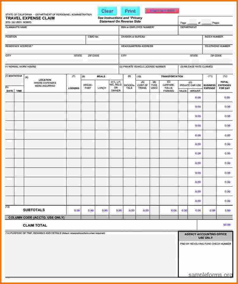 6+ expense form | Expense Report