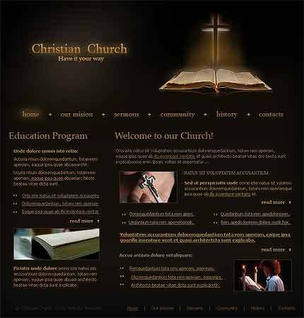 Christian Church Website Template #1011, amazing flash header and ...