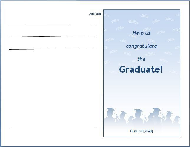 MS Word Graduation Party Invitation Template | Formal Word Templates