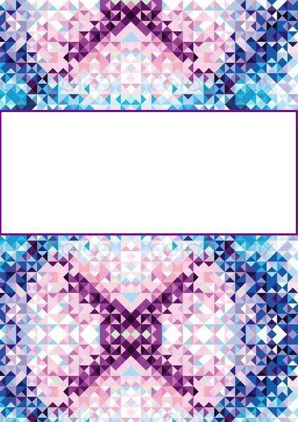 Triangle Binder Cover | Binder covers | Pinterest | Binder, School ...