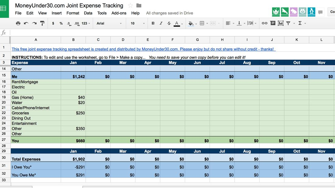 daily expense tracker excel - Template