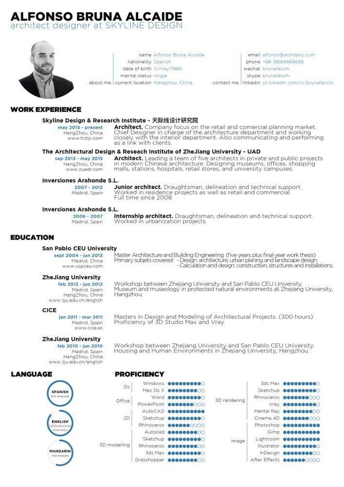 Gallery of The Top Architecture Résumé/CV Designs - 9 | Cv design ...