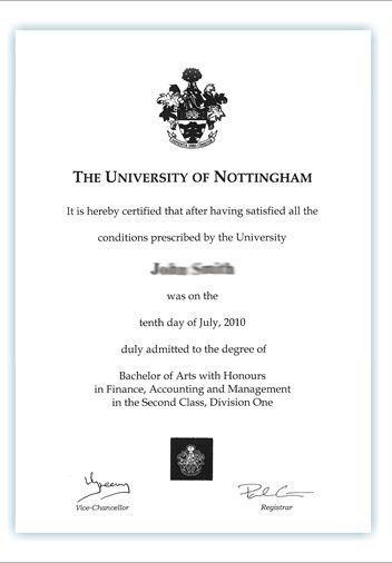 Your degree certificate - The University of Nottingham Ningbo ...