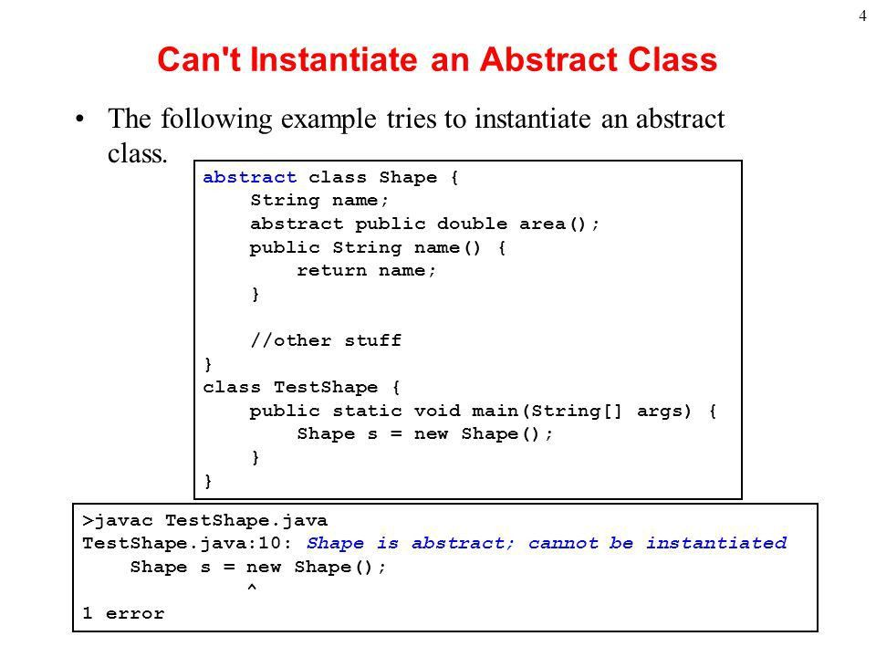 1 Abstract Class There are some situations in which it is useful ...