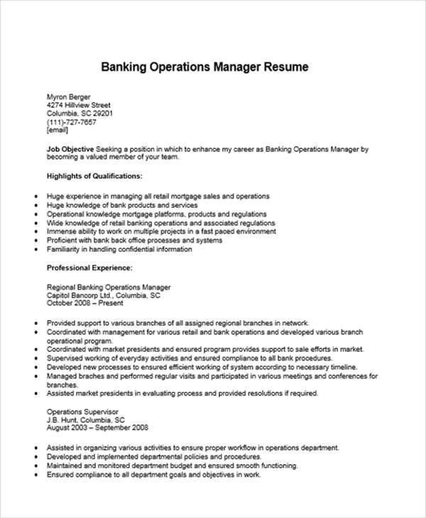 retail operation manager resume retail operations manager cv