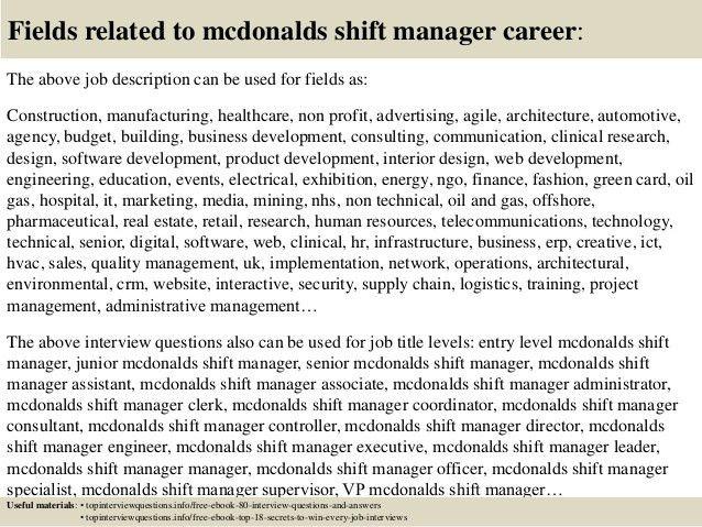 Manager duties at mcdonald's, b2b marketing jobs in delhi, temp ...