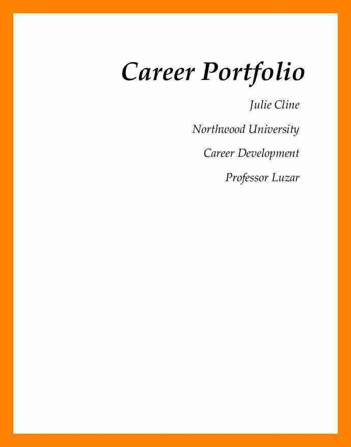 6+ portfolio cover example | resumes great