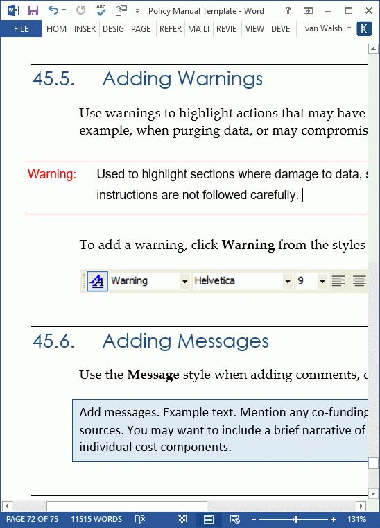 Word Manual Template Word Manual Template 5 Free Word Documents – Manual Templates