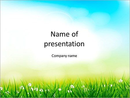 Spring background PowerPoint Template & Backgrounds ID 0000008751 ...