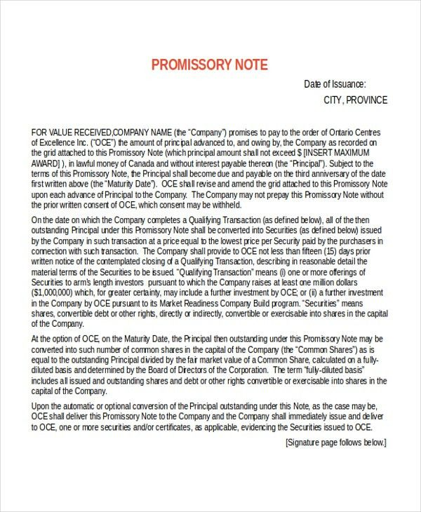 13+ Promissory Note Templates - Free Sample, Example, Format ...